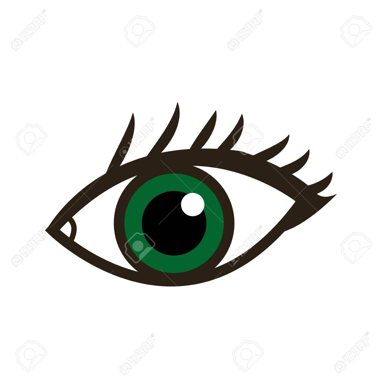 Cartoon Eye Human Vision Look Watch Icon Vector Illustration Royalty Free Cliparts Vectors And Stock Illustration Image 79059714