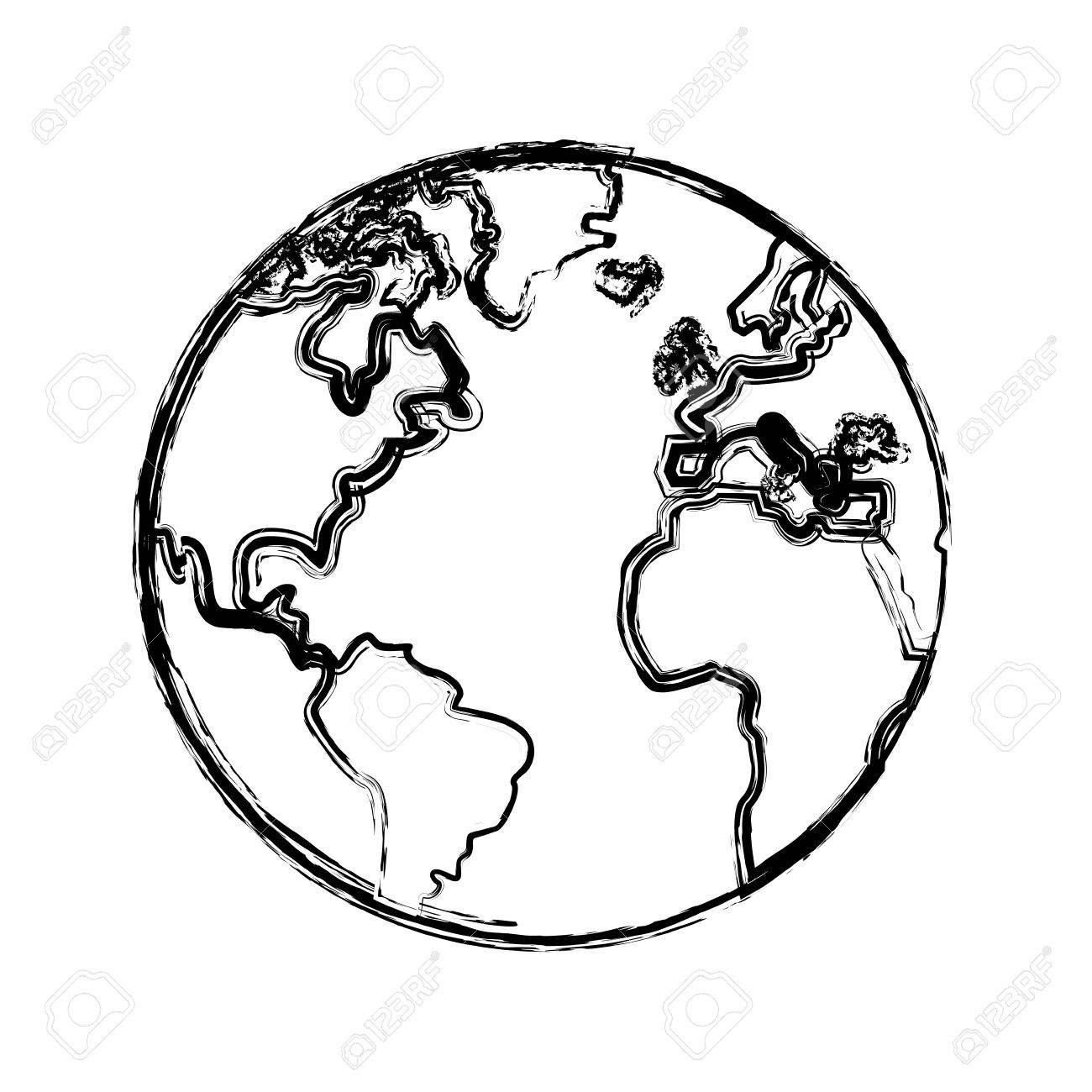 Sketch globe world earth map icon vector illustration royalty free sketch globe world earth map icon vector illustration stock vector 79062371 gumiabroncs Images