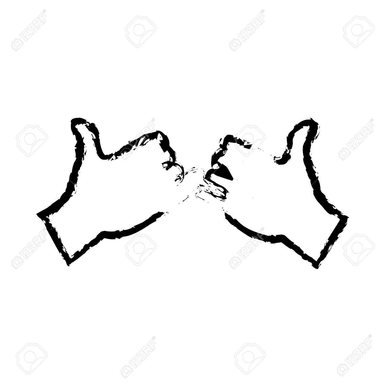 小指の約束ジェスチャー アイコン ベクトル イラスト描画の手のイラスト