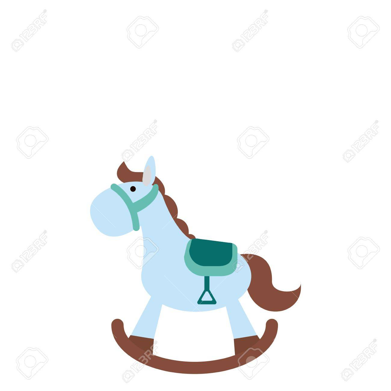 Wood Rocking Horse Baby Or Shower Related Icon Image Vector Royalty Free Cliparts Vectors And Stock Illustration Image 79386721