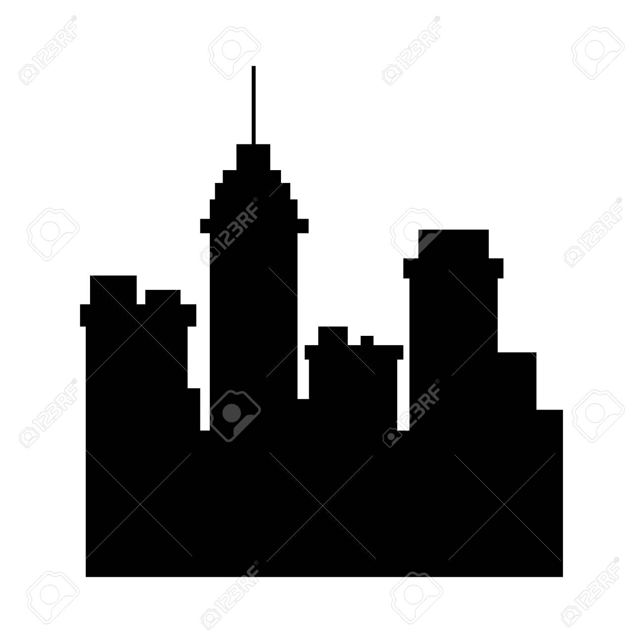 silhouette building urban city town skyscraper vector illustration rh 123rf com skyscraper vector free download dubai skyscraper vector