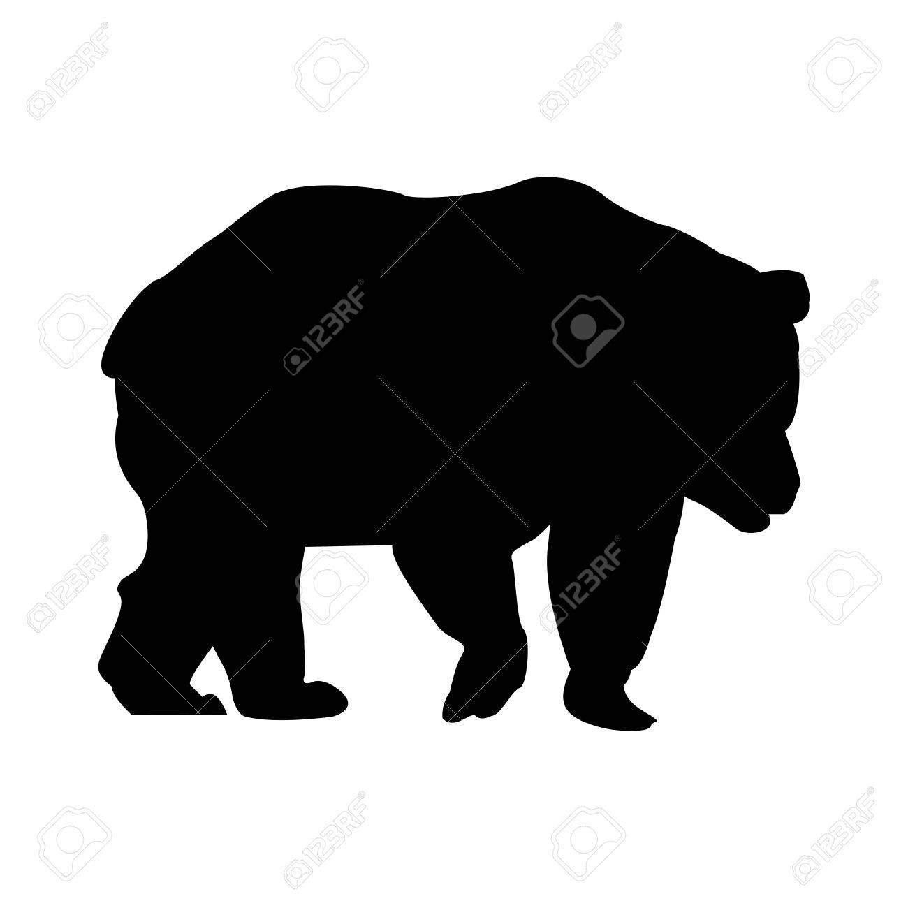 シルエット熊動物森林野生生物画像ベクトル イラスト。 ロイヤリティ