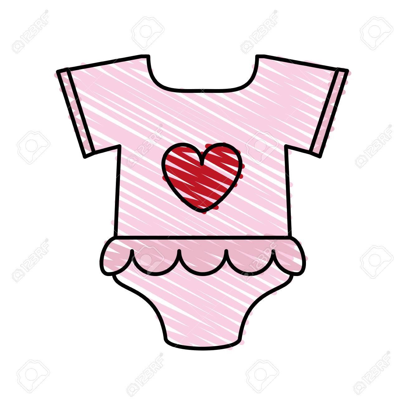 ピンクの赤ちゃん服アイコン イラスト ベクター デザイン グラフィック