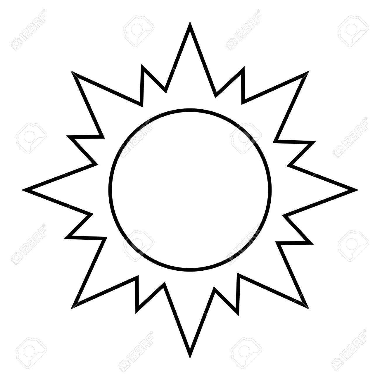 sun silhouette illustration vector design graphic icon royalty free rh 123rf com Dolphin Silhouette Vector Sun Design Vector