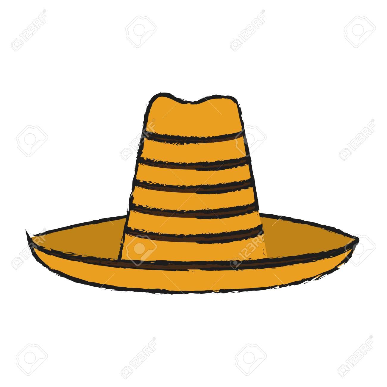民俗麦わら帽子アイコン画像ベクトル イラスト デザイン スケッチ