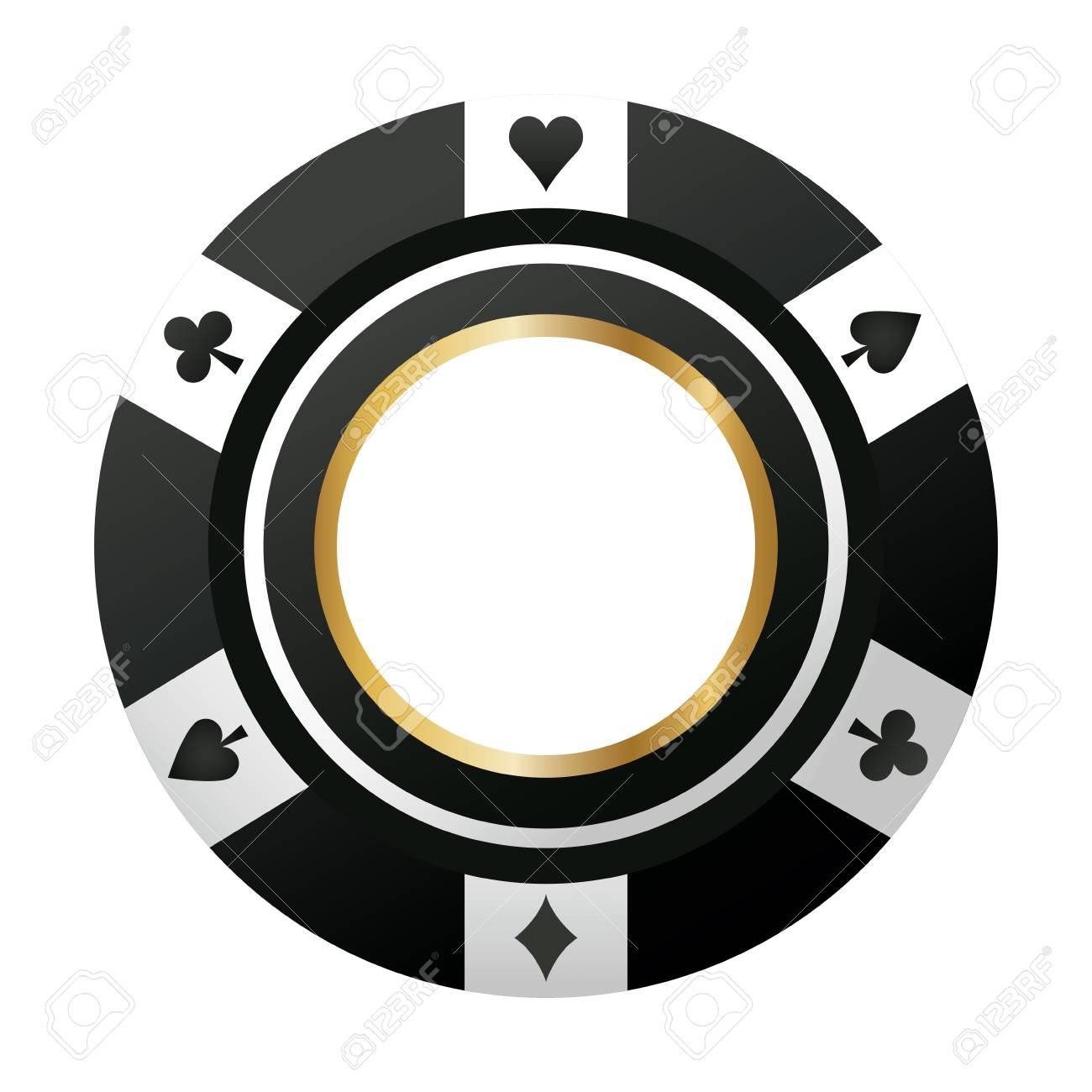 poker chip casino game black icon vector illustration - 80283548