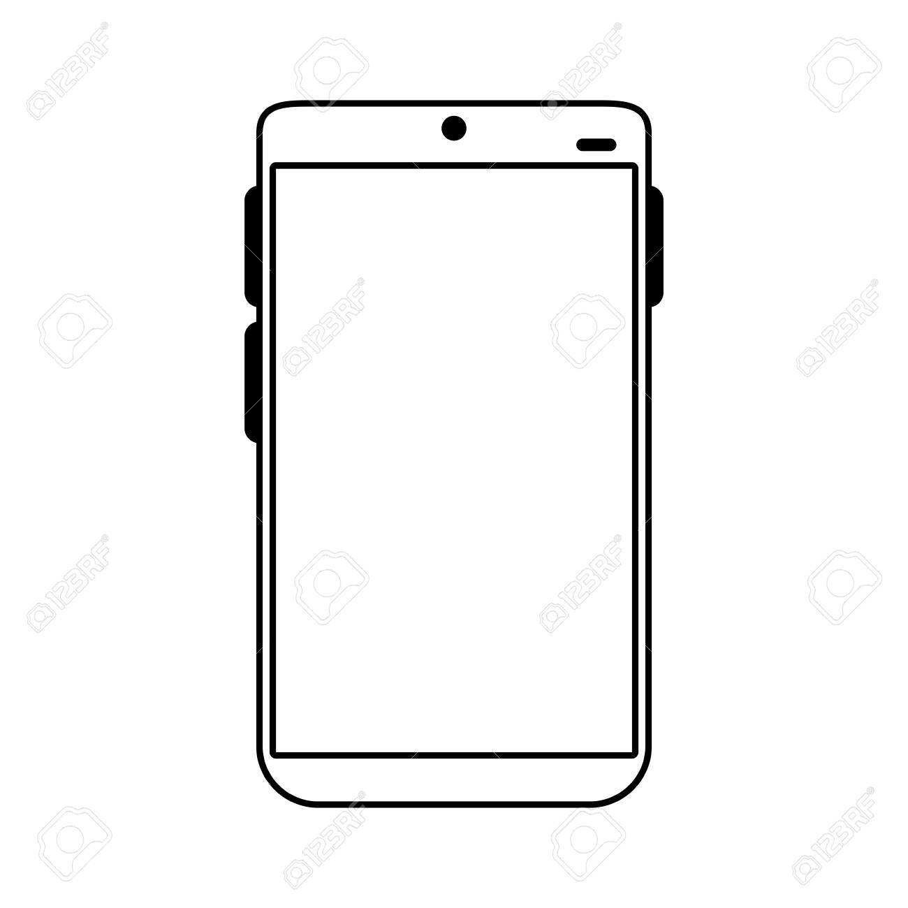 Electronic Cell Phone On Icon Vector Illustration Design Graphic ...