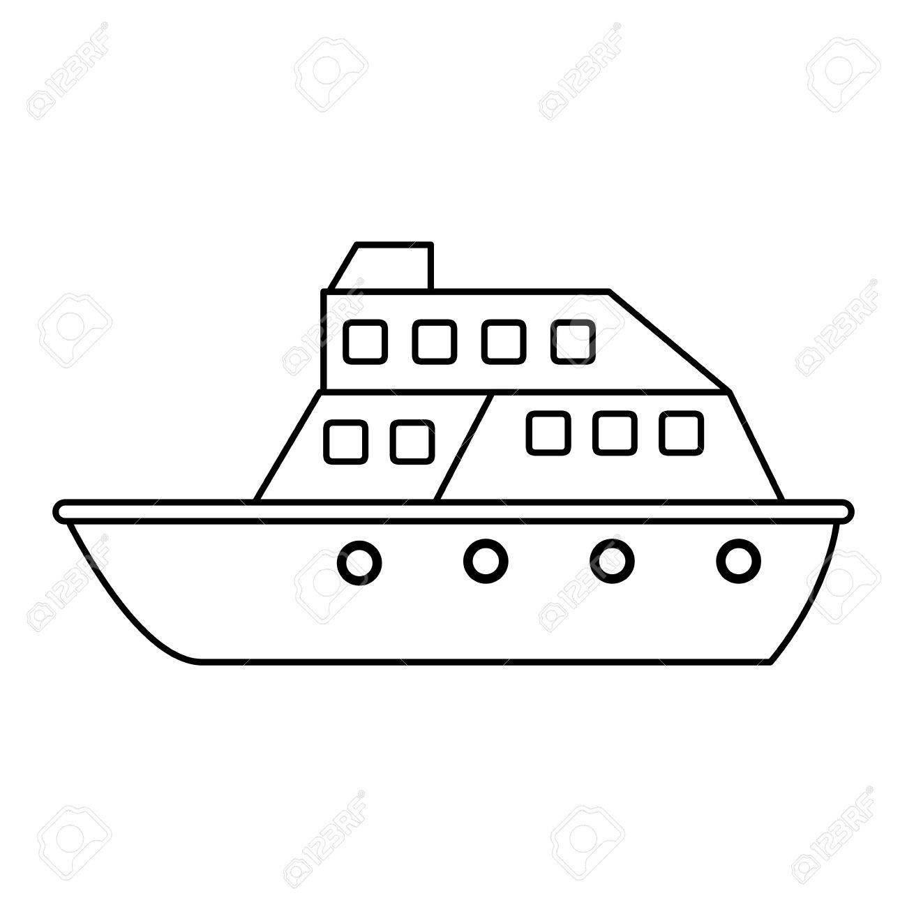 Cruise Ship Icon Image Vector Illustration Design Royalty Free