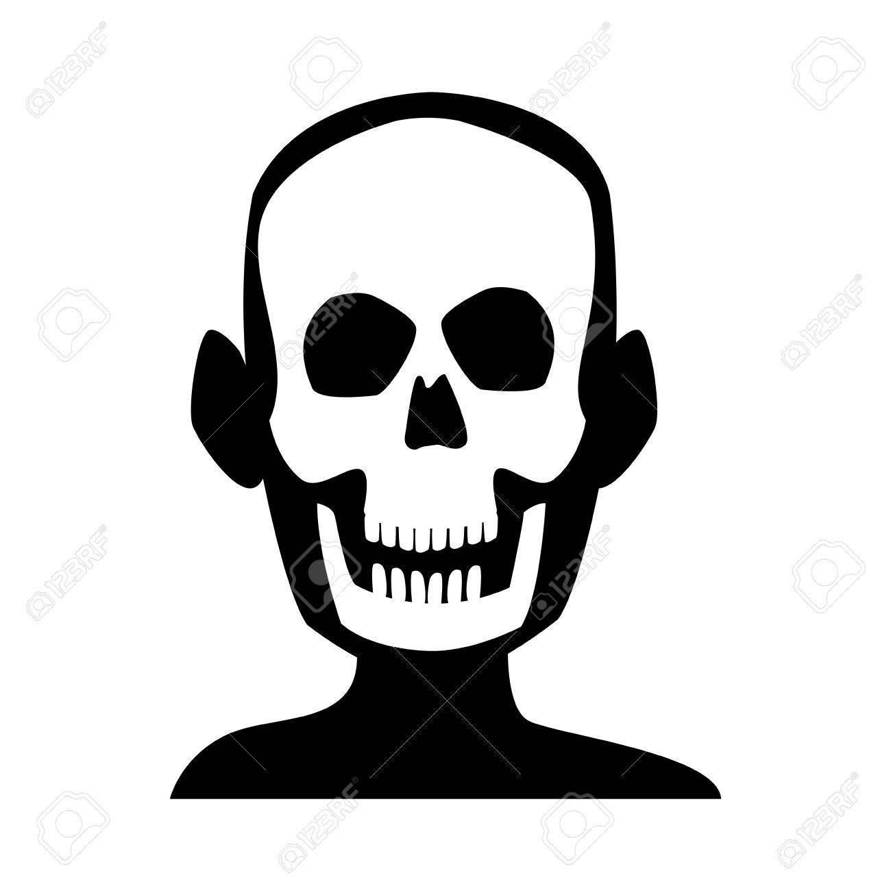Menschliche Schädel Skelett Röntgen-Medizin Test Vektor-Illustration ...