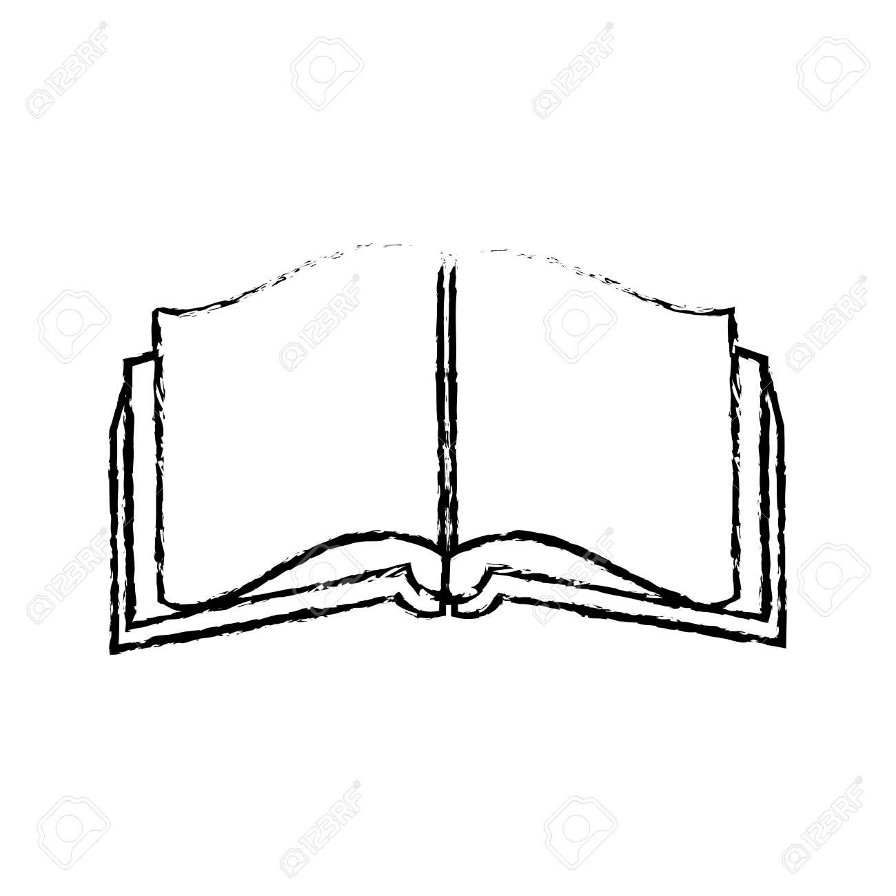 open book literature encyclopedia learn vector illustration stock vector -  80645516