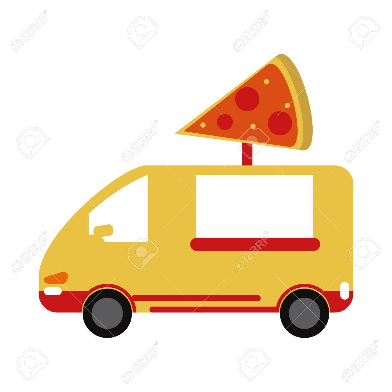 Pizza domicile fast food icon