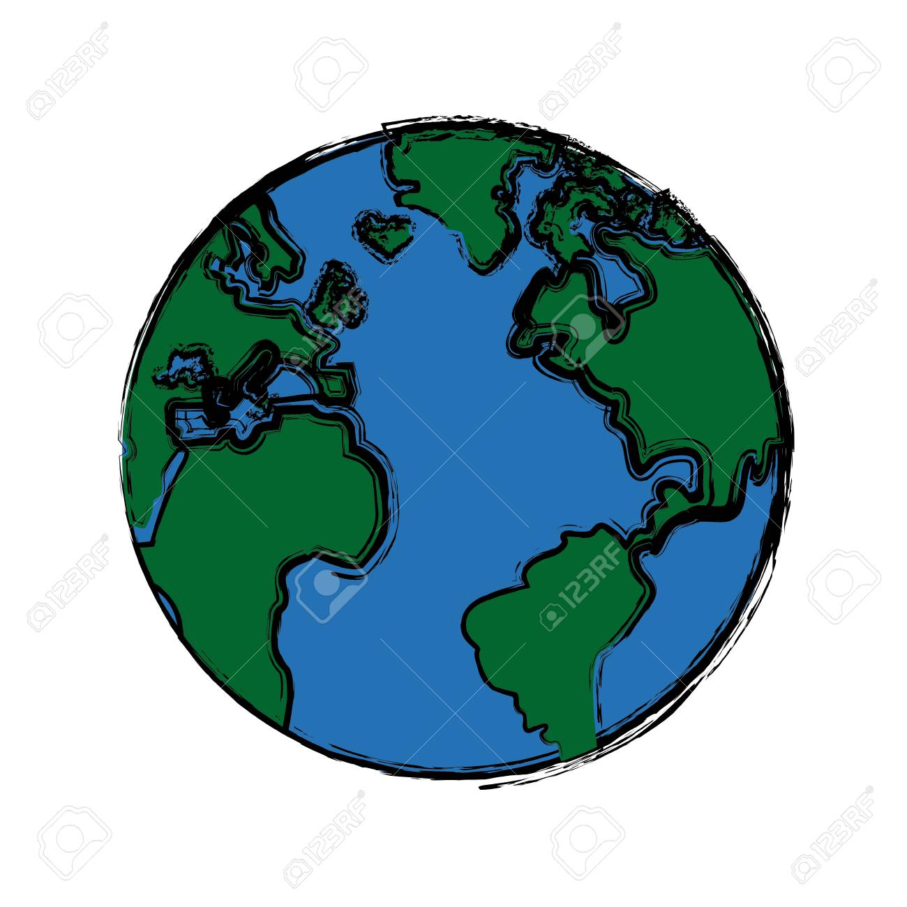 Global world earth map round vector illustration royalty free global world earth map round vector illustration stock vector 80915552 gumiabroncs Images