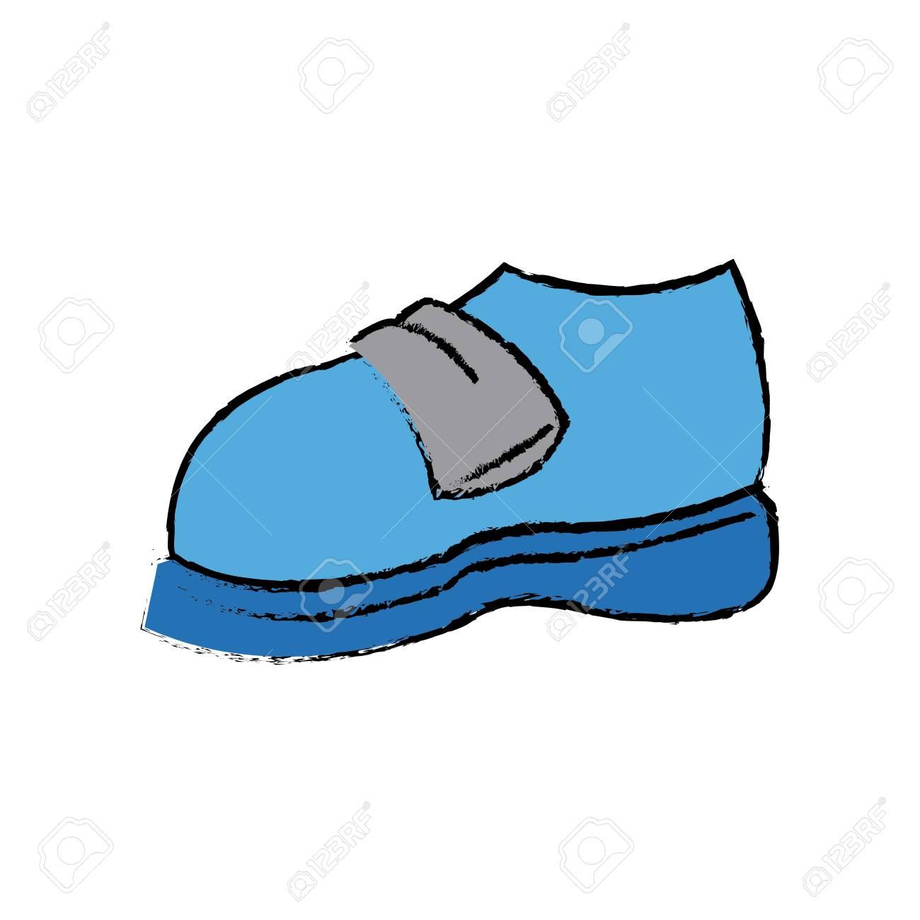 Dessin animé bleu sneaker sport chaussure illustration vectorielle