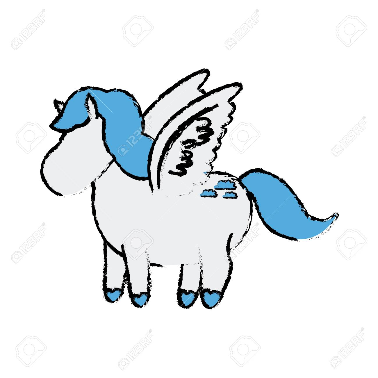 Cute Cartoon Little Funny Running Horse Beautiful Pony Vector Royalty Free Cliparts Vectors And Stock Illustration Image 80945106