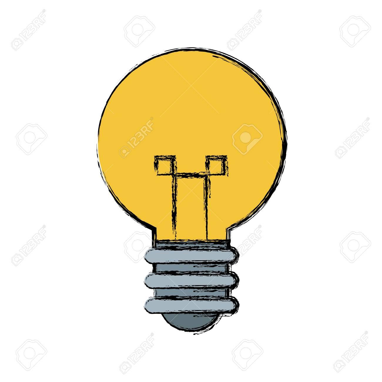 Light Bulb Idea Creative Innovation Symbol Vector Illustration Stock