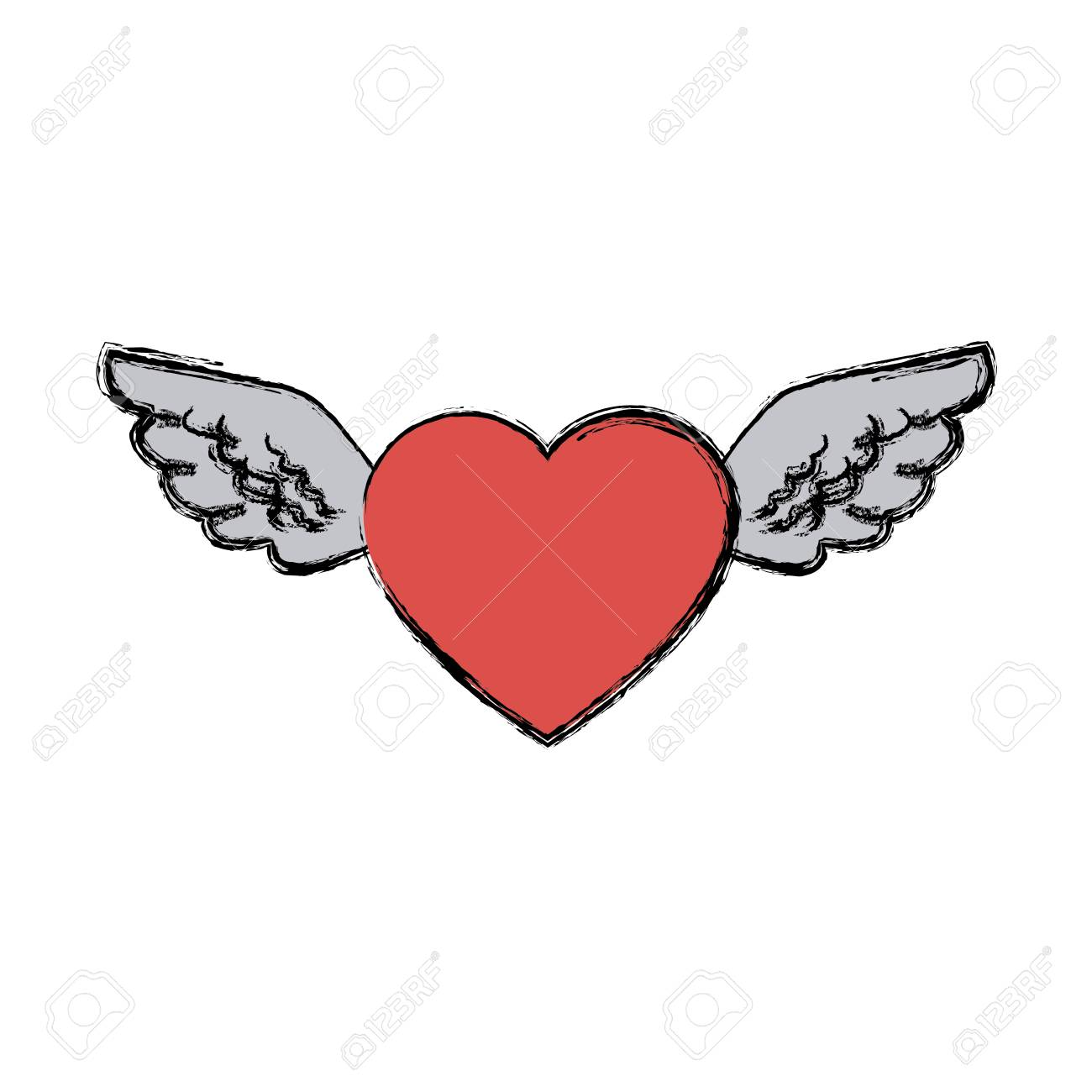 Love heart wings fly tattoo free symbol vector illustration love heart wings fly tattoo free symbol vector illustration stock vector 81165135 buycottarizona Choice Image