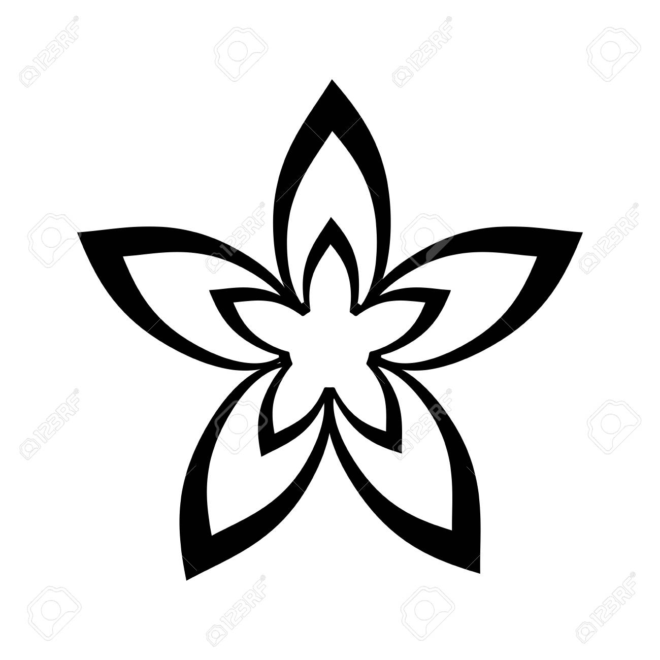 Small Delicate Flowers Paint Image Vector Illustration Draw Royalty