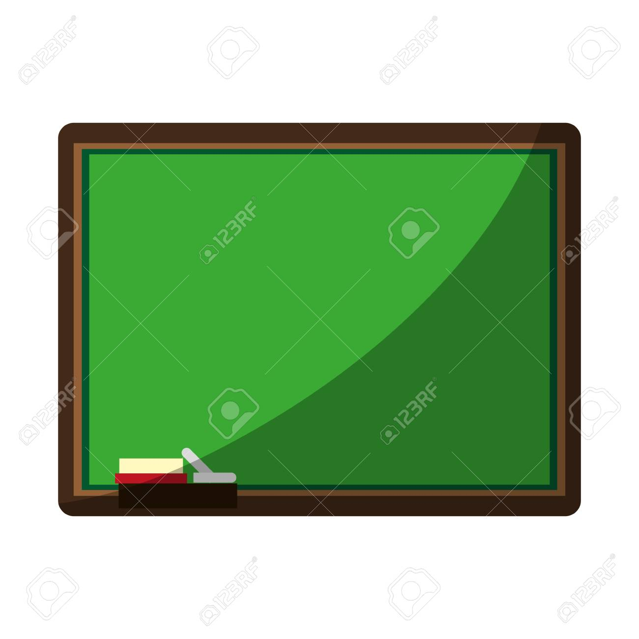 Chalk Board With School Supply Icon Image Vector Illustration - Pool table chalk board