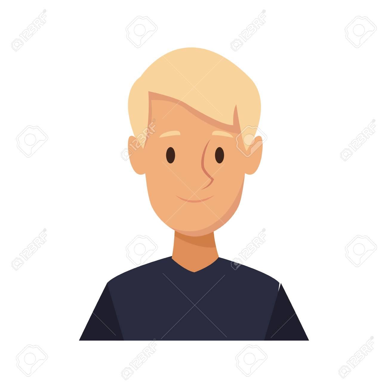 漫画男若いキャラ笑顔画像ベクトル イラストのイラスト素材ベクタ