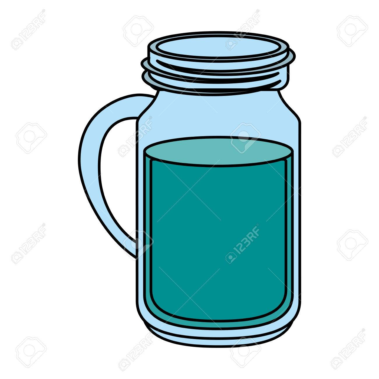 Water Bottle Clipart #53499 - Illustration by David Barnard