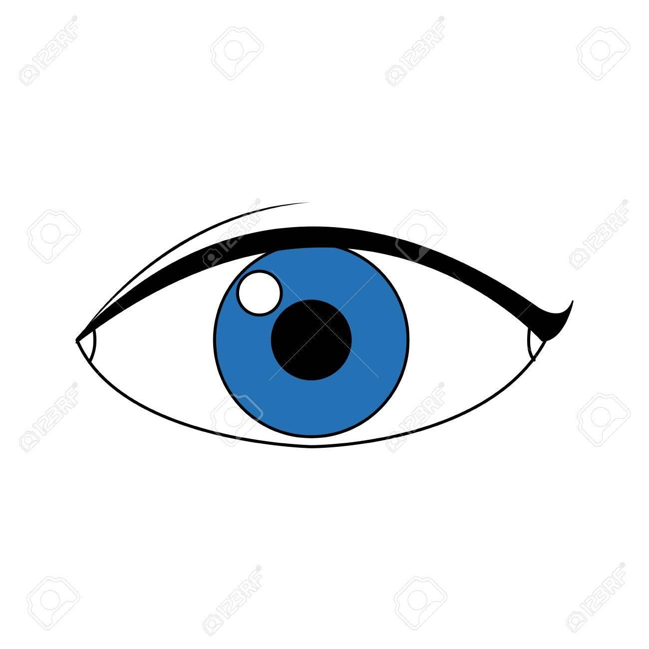 eye people cartoon watch optic icon vector illustration royalty free rh 123rf com vector eye chart vector eyelashes