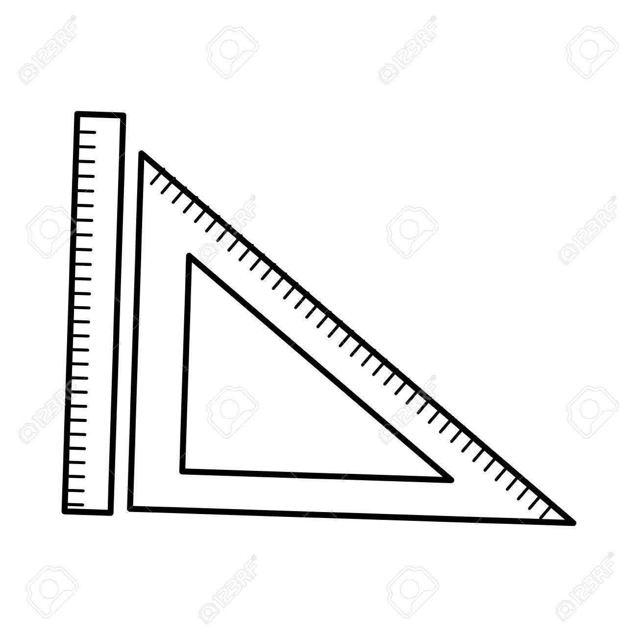 定規と三角定規幾何学測定オブジェクトのベクトル イラストのイラスト