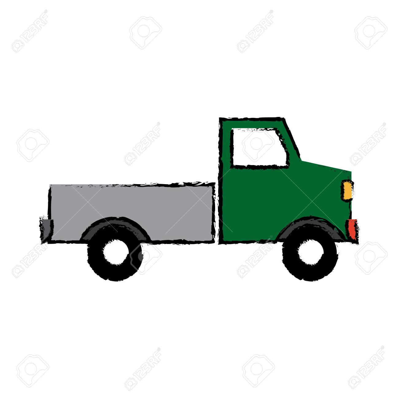 Pickup Truck Delivery Icon Sign Modern Simple Design Vector Illustration