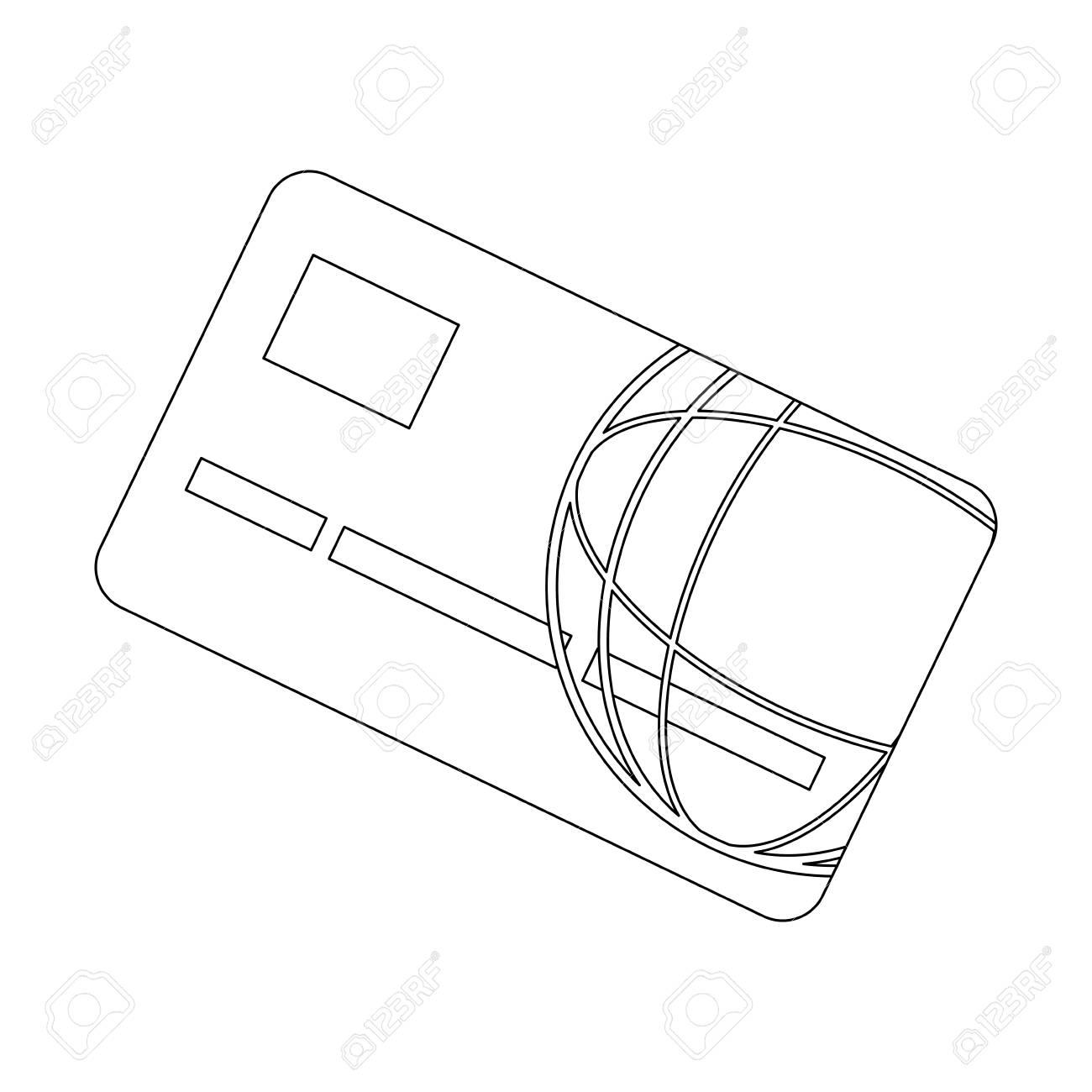 Bank card credit or debit finance security money vector illustration