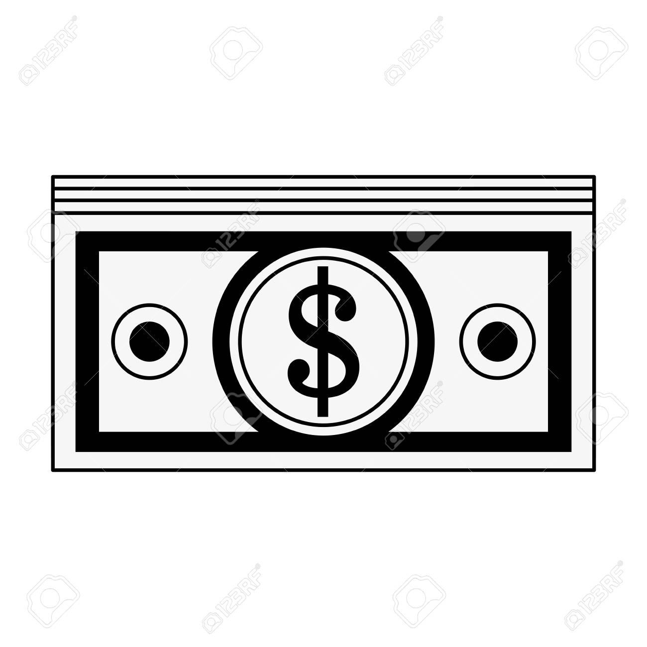 dollar bills money icon image vector illustration design black rh 123rf com