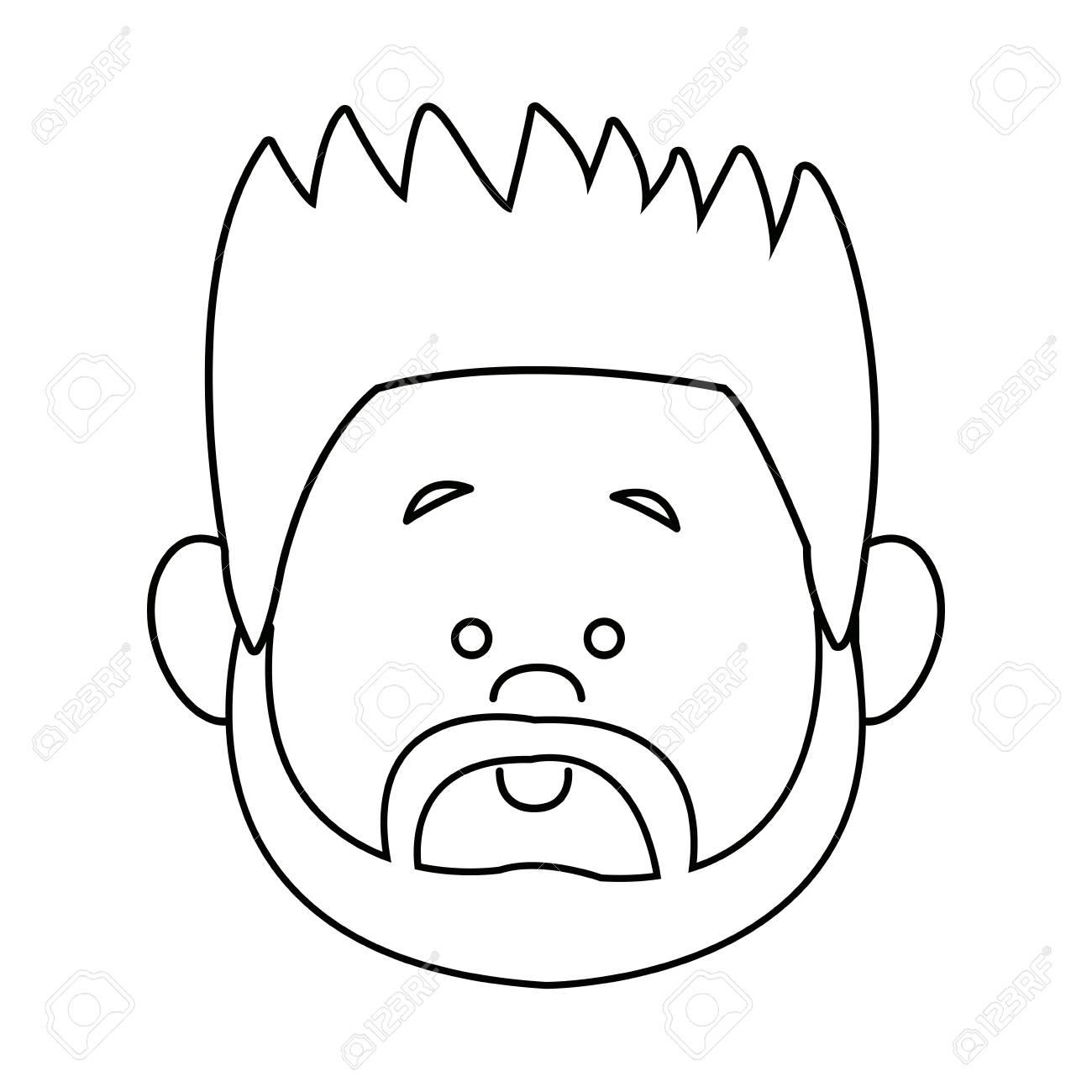 profile man face character person head cartoon vector illustration