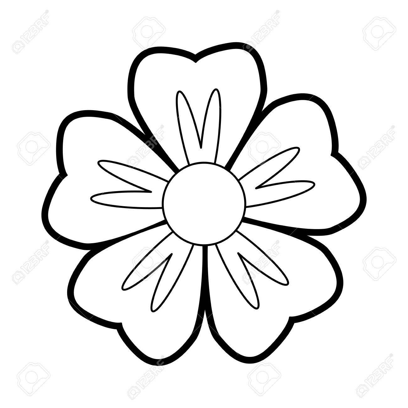 single paint flower icon image vector illustration draw