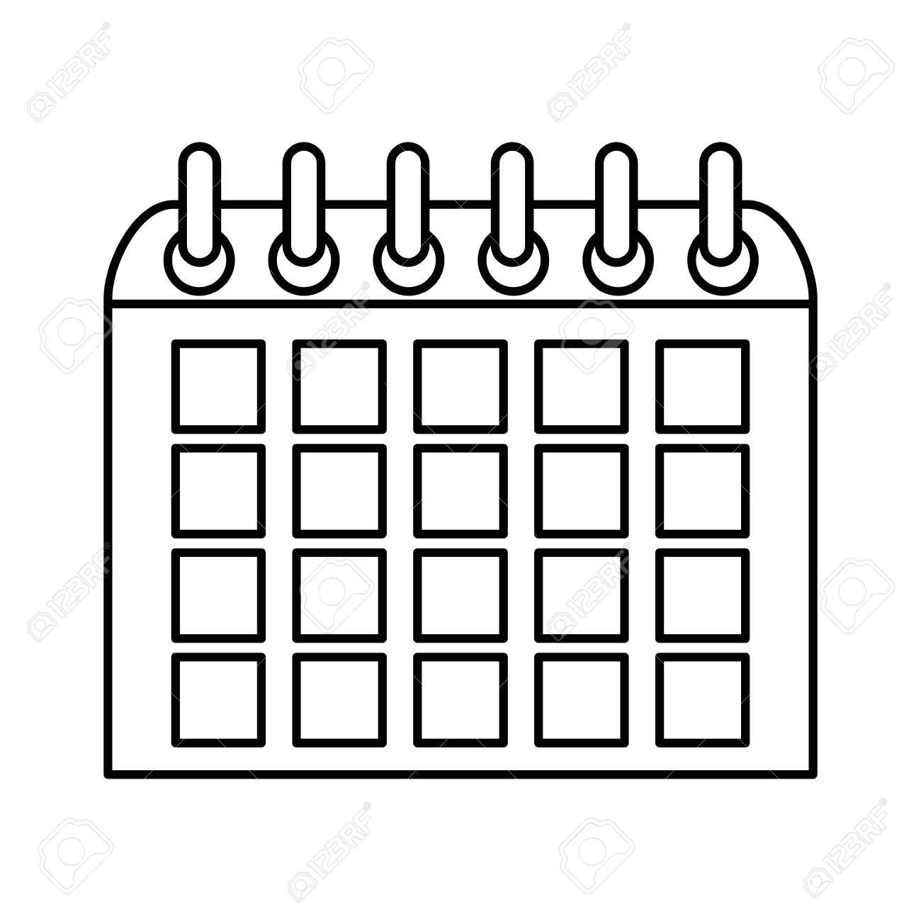 Calendario Academico Us.Calendario Escolar No Ano Novo Para Ilustracao Vetorial De Estudo