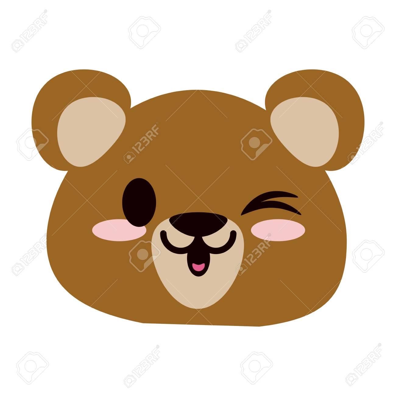 クマやカブかわいい動物漫画アイコン画像ベクトル イラスト デザイン