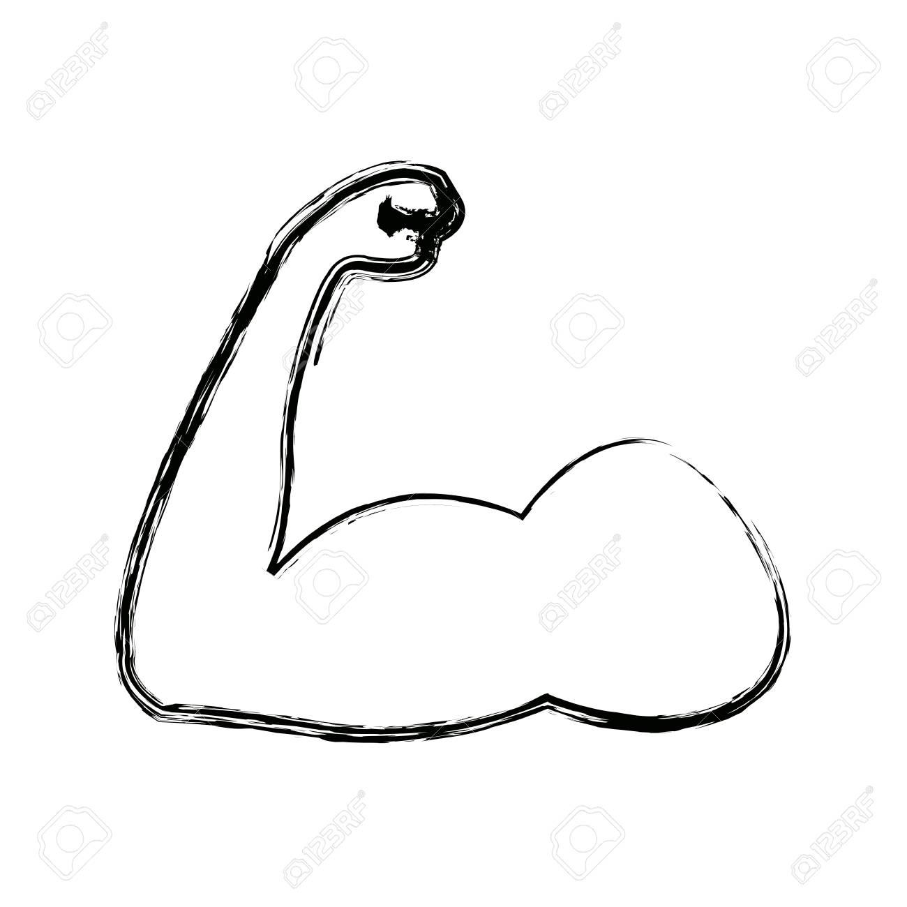 力の強い筋肉腕二頭筋運動ベクトル イラストのイラスト素材ベクタ
