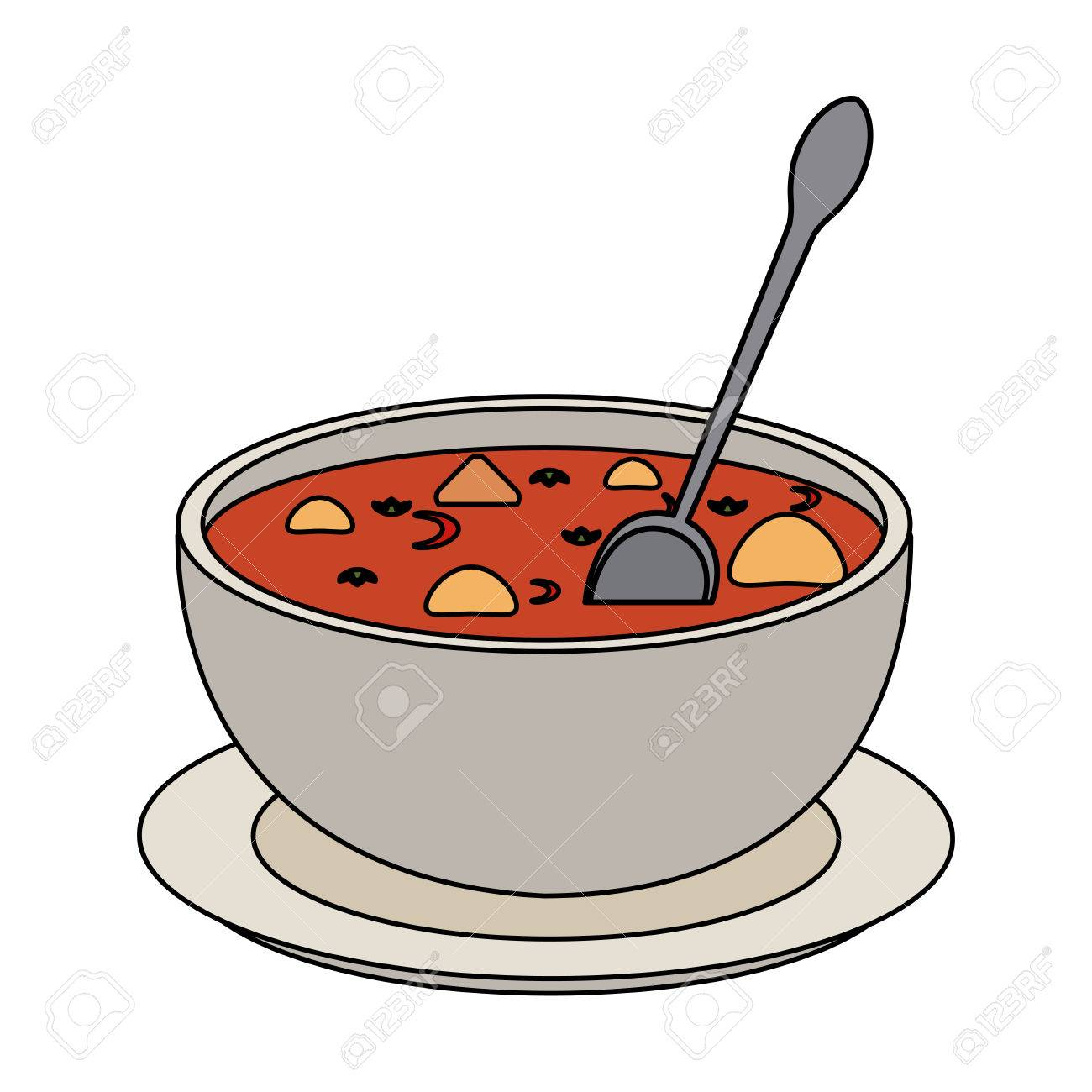 hot soup bowl icon vector illustration graphic design royalty free rh 123rf com soup bowls images clip art soup bowl clipart