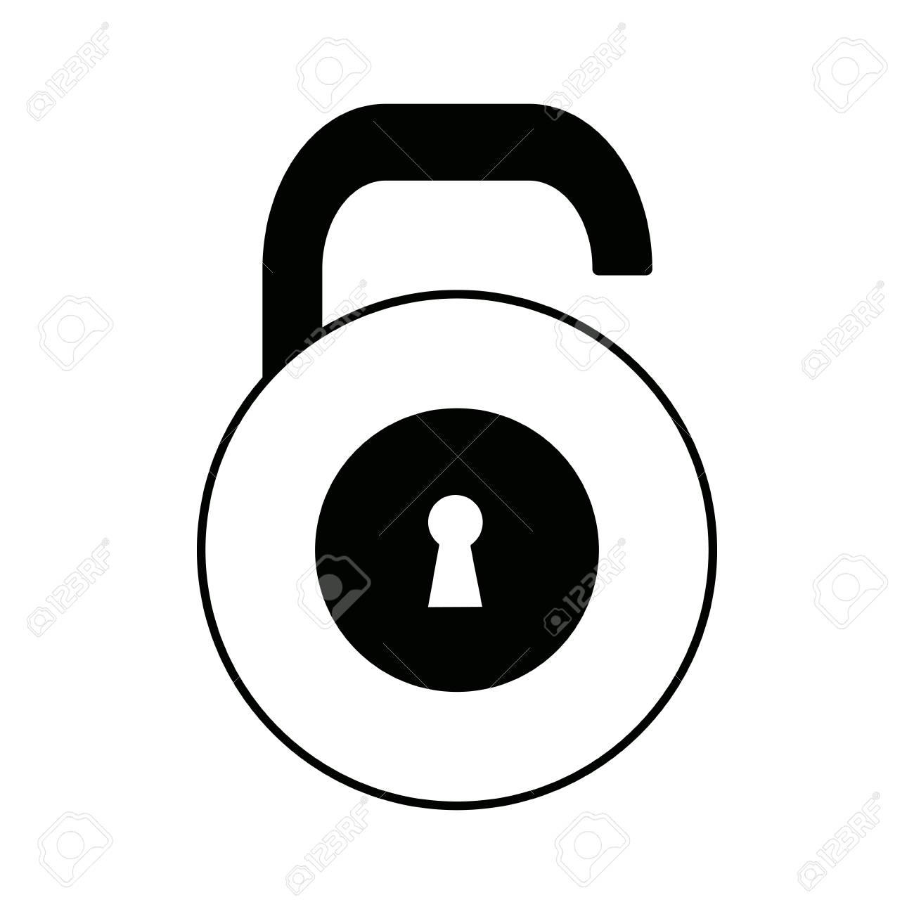 security padlock protection object keyhole vector illustration rh 123rf com  keyhole vector images