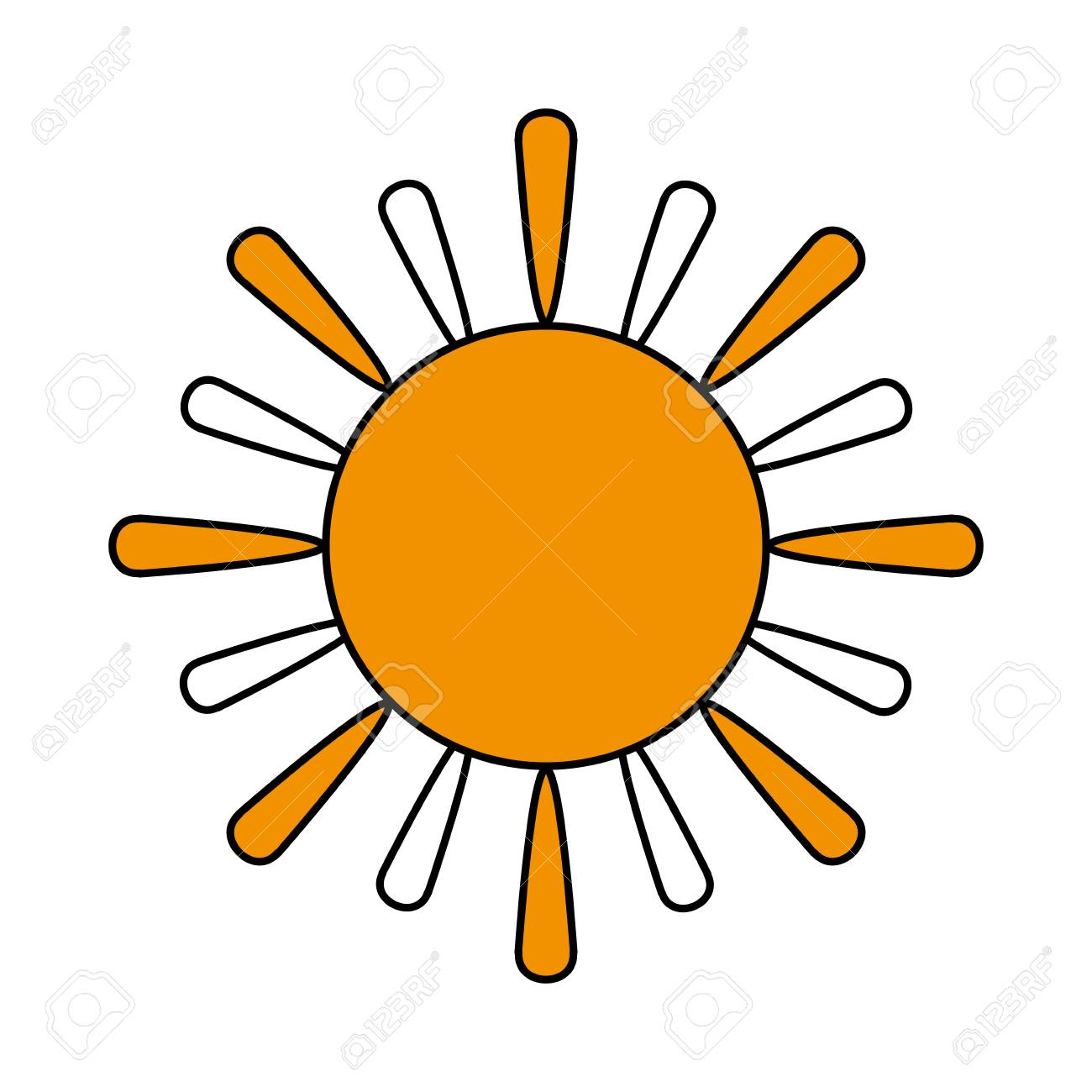 sun cartoon icon image vector illustration design one color royalty rh 123rf com Free Vector Textures Sunshine Vector Free