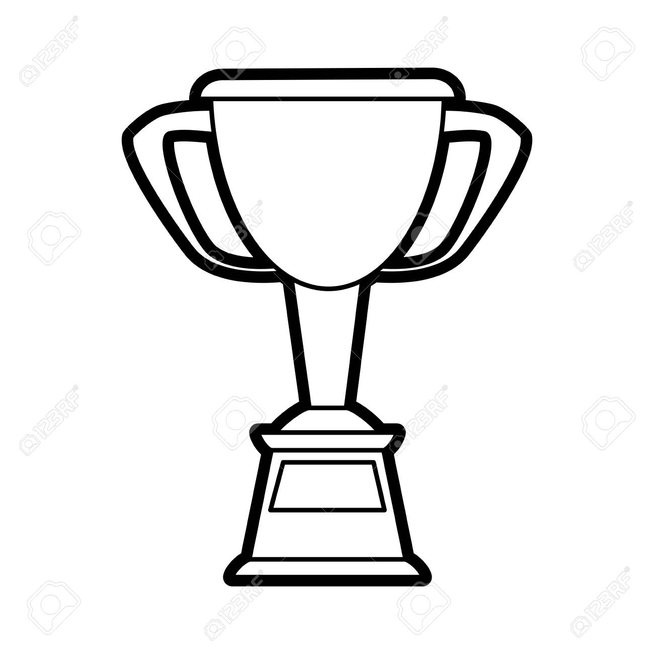 Winner trophy cup icon stock vector. Illustration of badge - 139724335