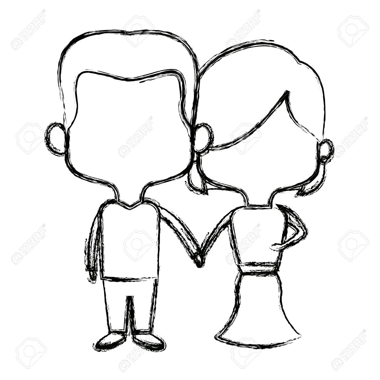 Dessin Couple Mignon Facile