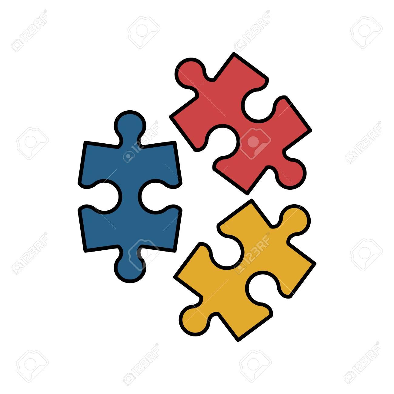 puzzle pieces icon image vector illustration design royalty free rh 123rf com puzzle pieces vector black and white puzzle pieces vector art free