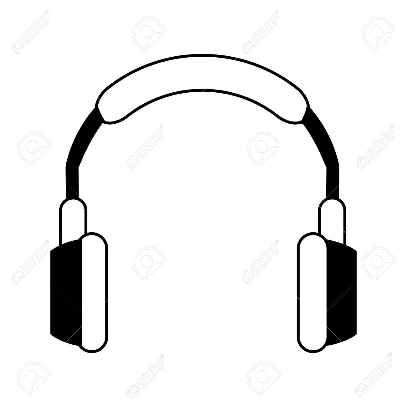 Isolierte Kopfhörer Symbol Bild Vektor Illustration Design ...
