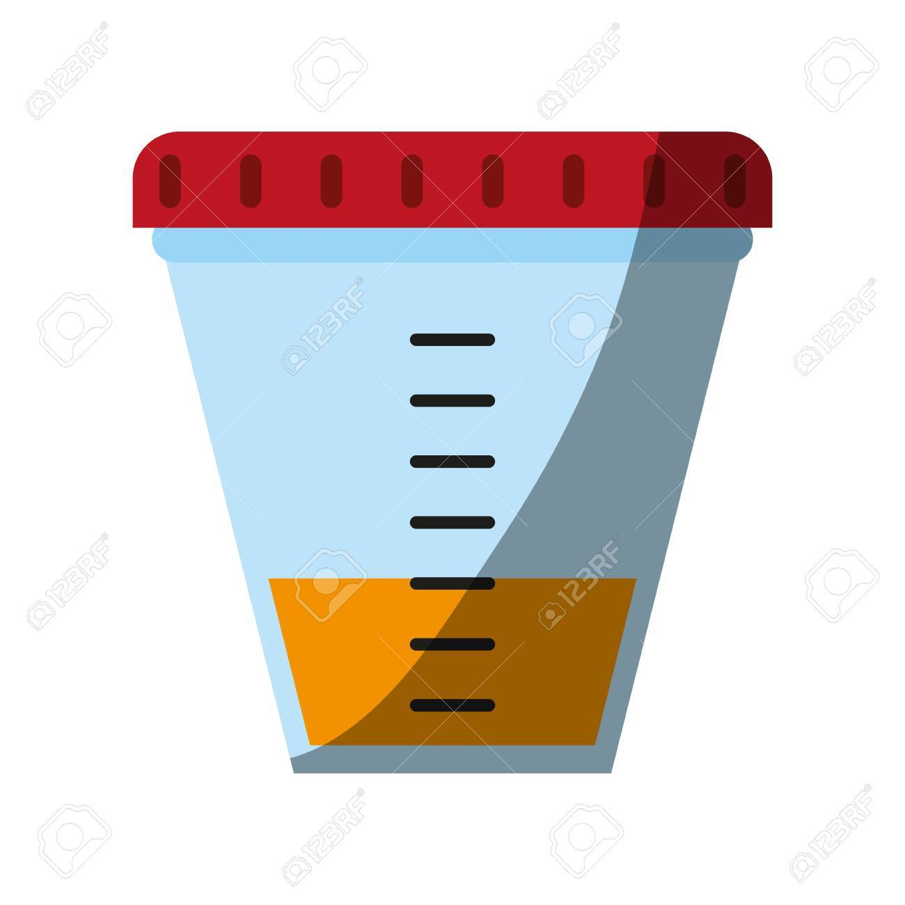 urine sample cup healthcare related icon image vector illustration design stock vector 84044825