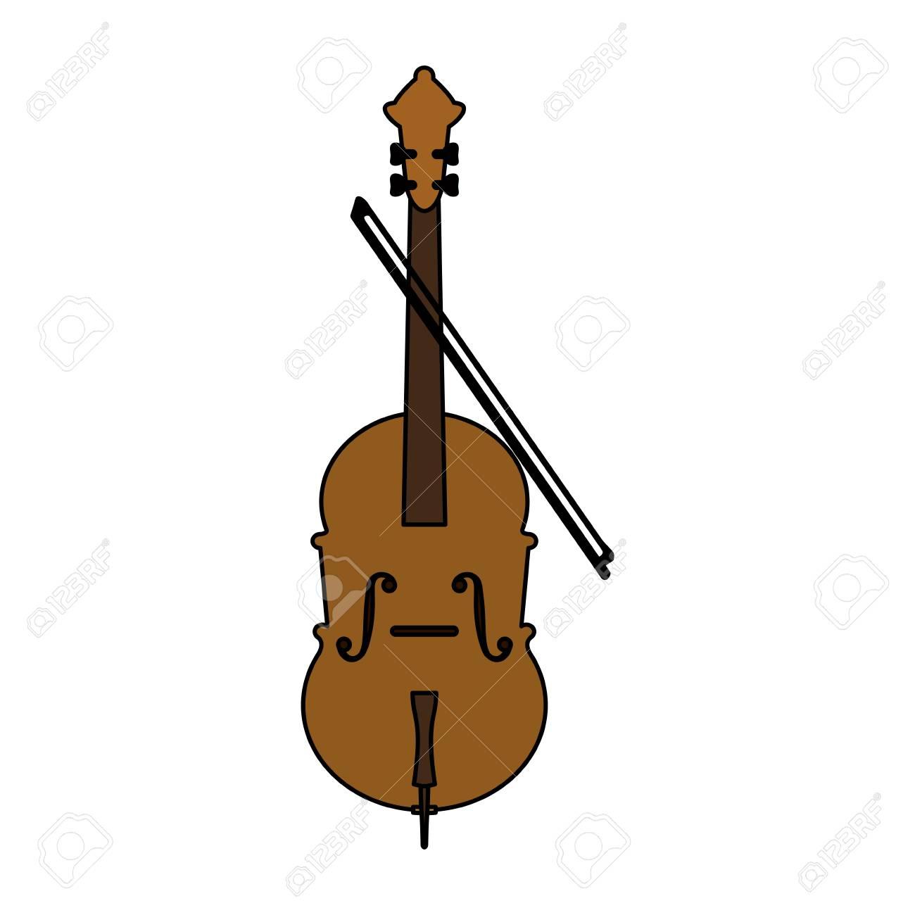 Cello Y Pantalones Cortos Del Icono Del Instrumento Musical Ilustracion Vectorial De Diseno