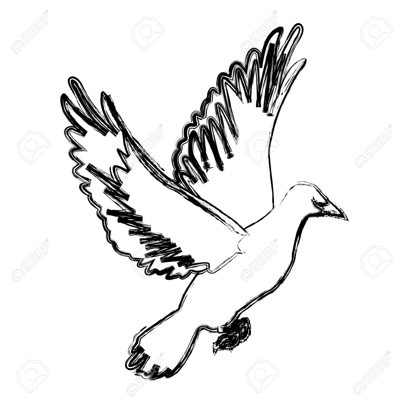 Flying white dove on white background as symbol of peace vector flying white dove on white background as symbol of peace vector illustration stock vector 84552706 buycottarizona