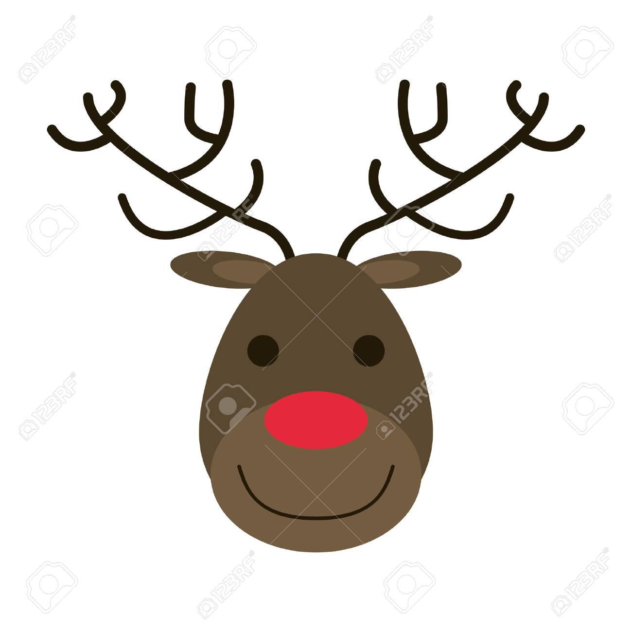 ルドルフ赤鼻のトナカイ クリスマス関連のアイコン画像ベクトル イラスト