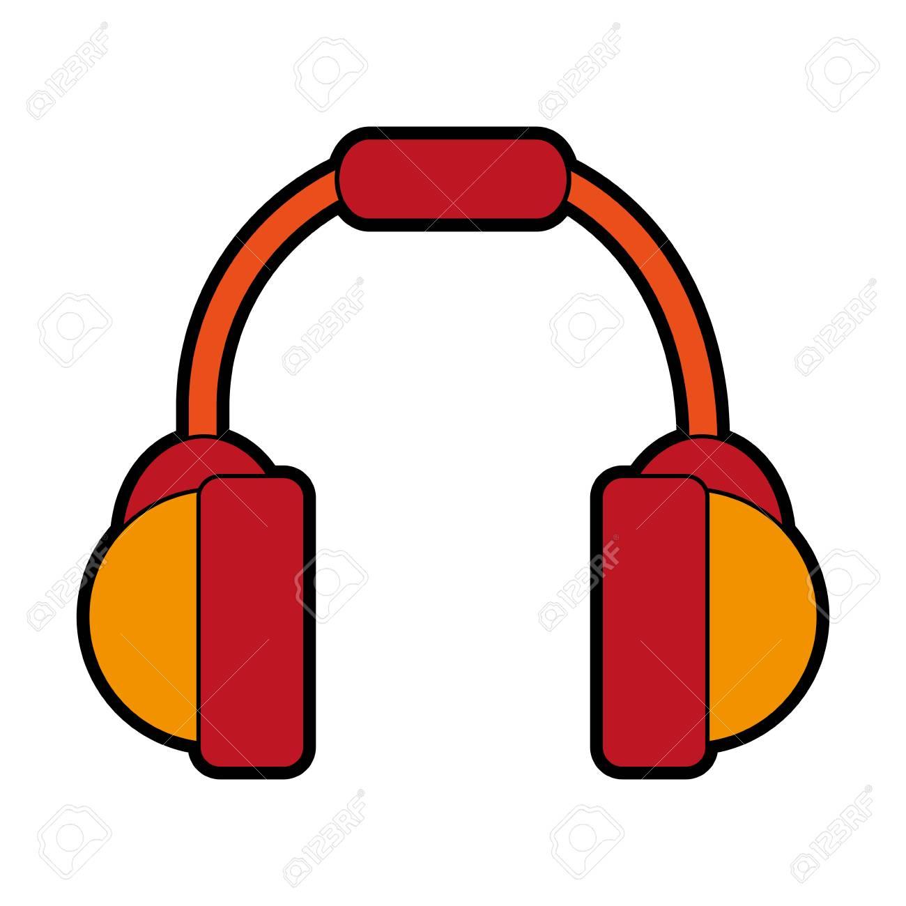 Kopfhörer Isoliert Symbolbild Vektor Illustration Design Lizenzfrei ...