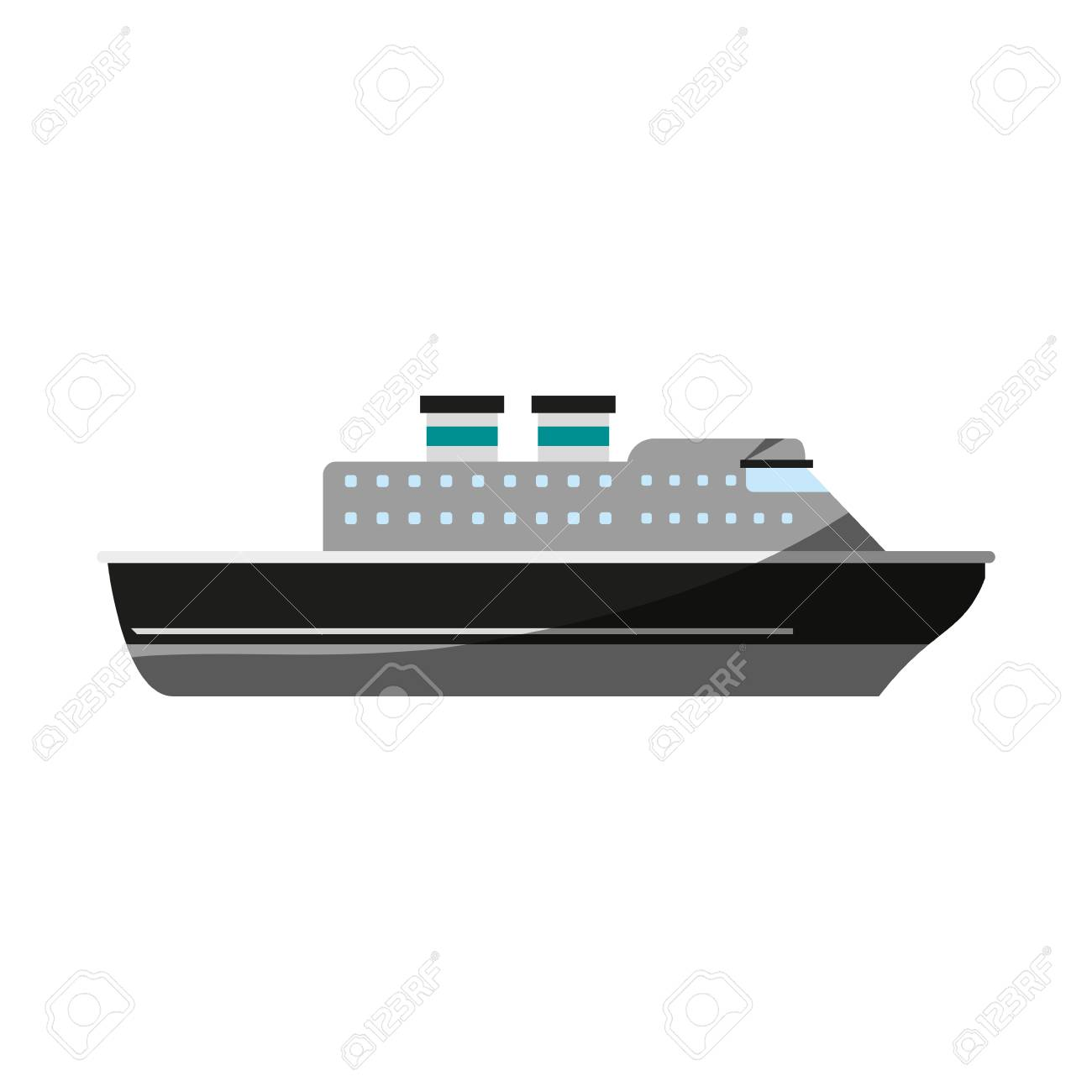 cruise ship icon image vector illustration design