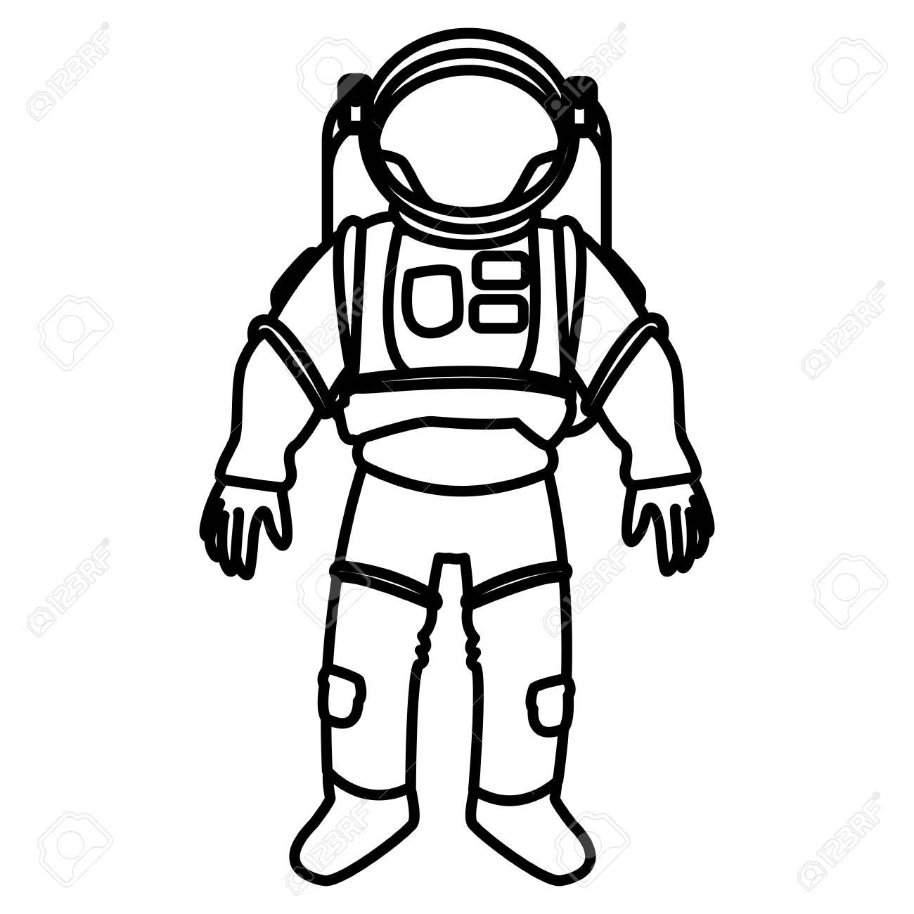space suit helmet protective for astronaut vector illustration