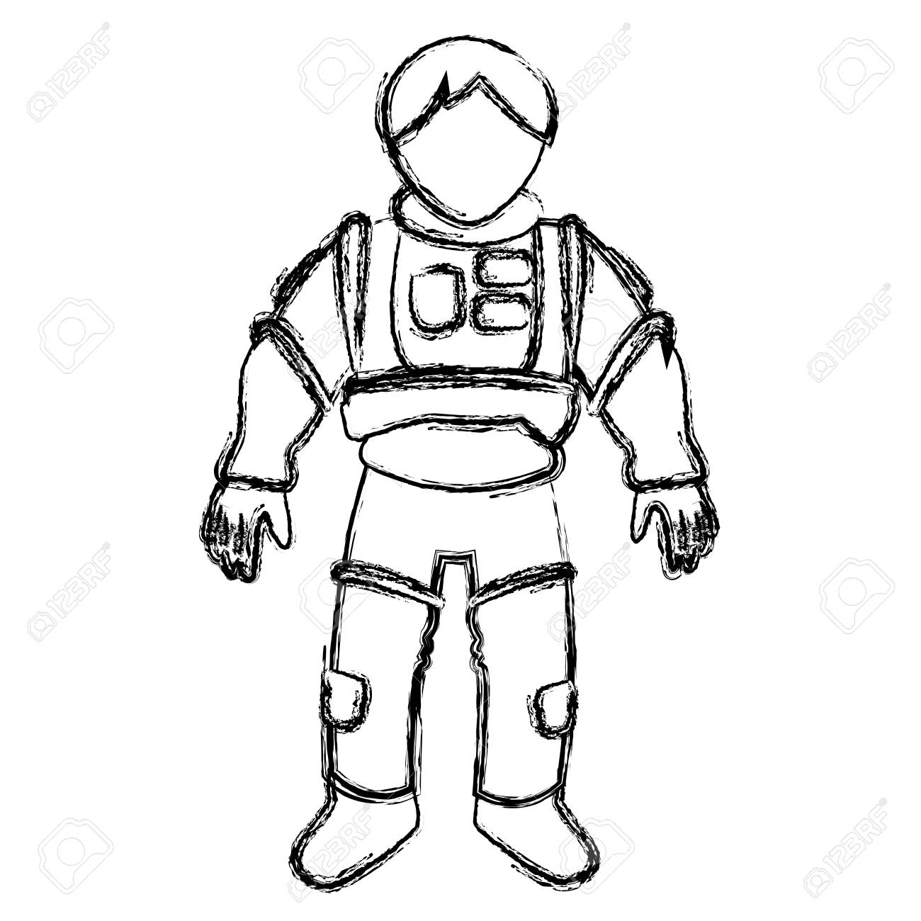 Astronaut Space Suit People Science Astronomy On White Background Vector Illustration Stock