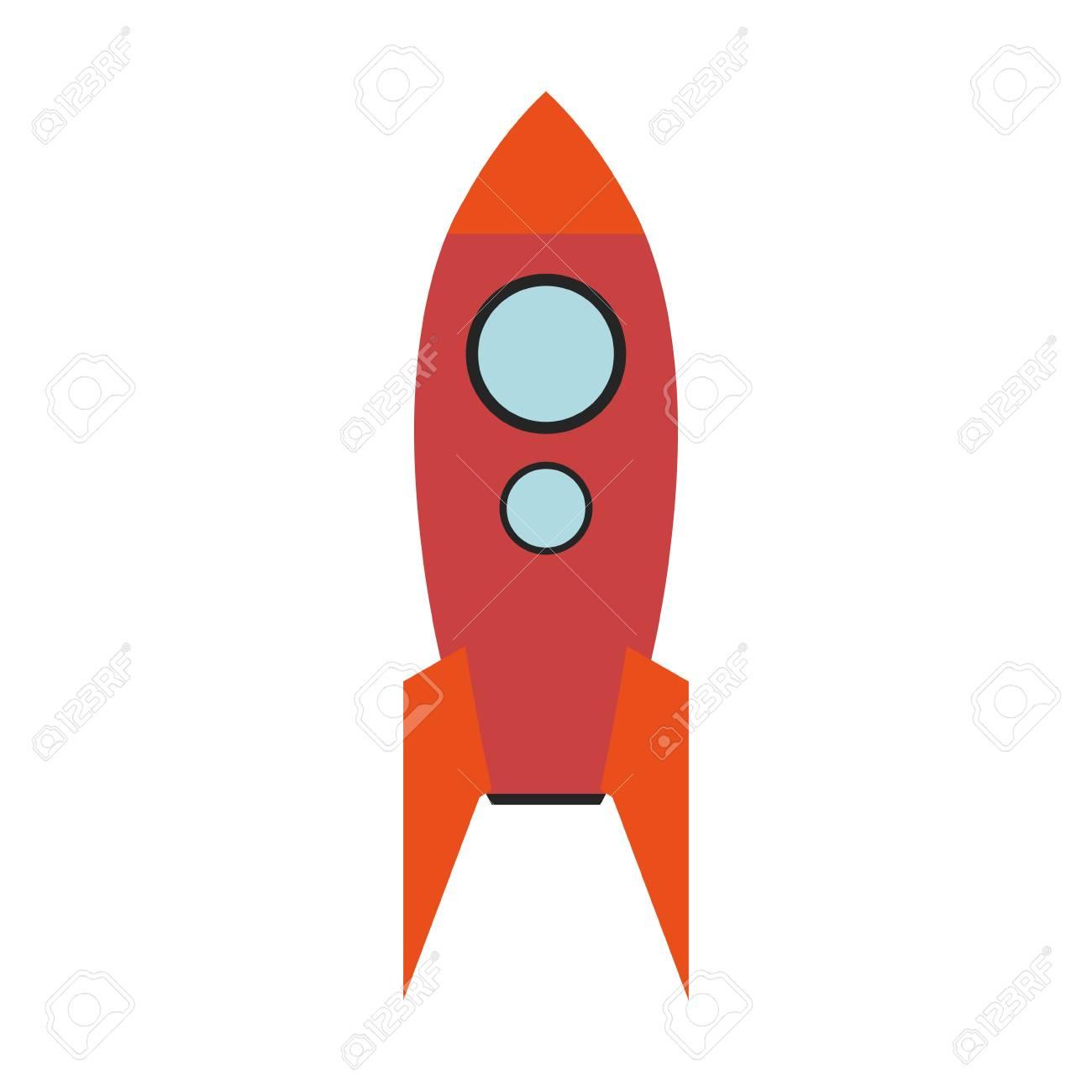 Vettoriale razzo di cartone animato o astronave icona